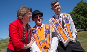 Arlene Foster at the Orange Order's annual Battle of the Boyne parade in Fife, Scotland, last year.