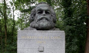 'Humouristic' ... the tomb of Karl Marx in Highgate Cemetery, London.