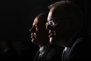 Scott Morrison and Josh Frydenberg adress the media in the Blue Room of Parliament House on Friday