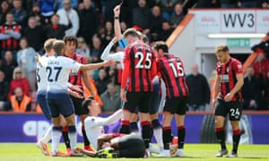 Tottenham endured a terrible day on Saturday, ending with nine men and conceding an injury-time goal at Bournemouth.