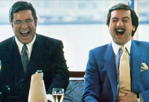 Robert de Niro and Jerry Lewis laughing