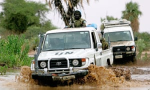 A convoy of the UN mission in Darfur.