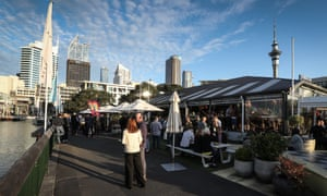ACT supporters enjoy an evening drink at HeadQuarters Bar on October 17, 2020 in Auckland, New Zealand.