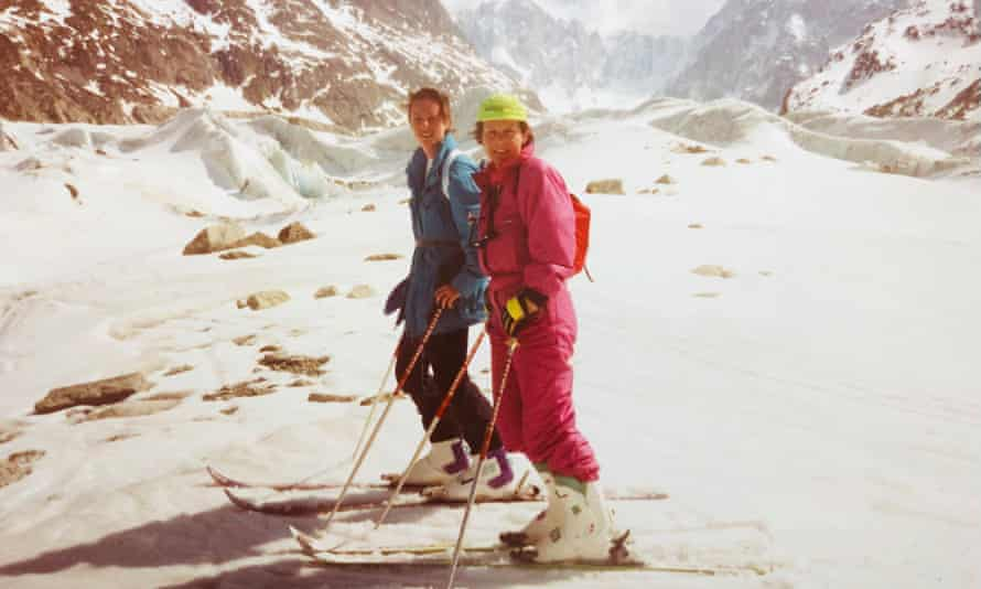 Alison Rourke and her mother, Rosalind, skied the Vallée Blanche together in France in 1993