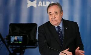Alex Salmond at the Alba campaign launch.