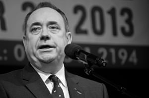 Alex Salmond at the launch of the Scottish Independence Campaign, Calton Hill, Edinburgh, on 21 September 2013 – one year before the referendum would take place.