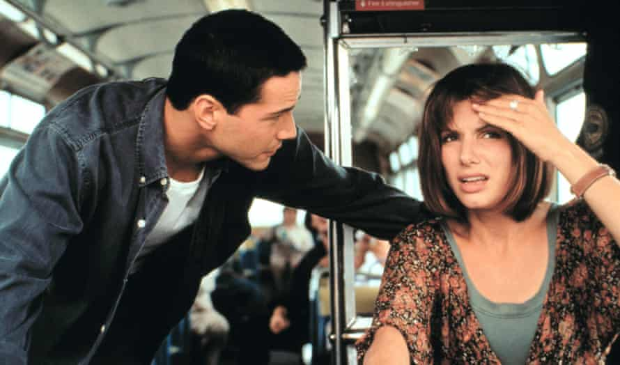 Keanu Reeves and Sandra Bullock in the 1994 film Speed