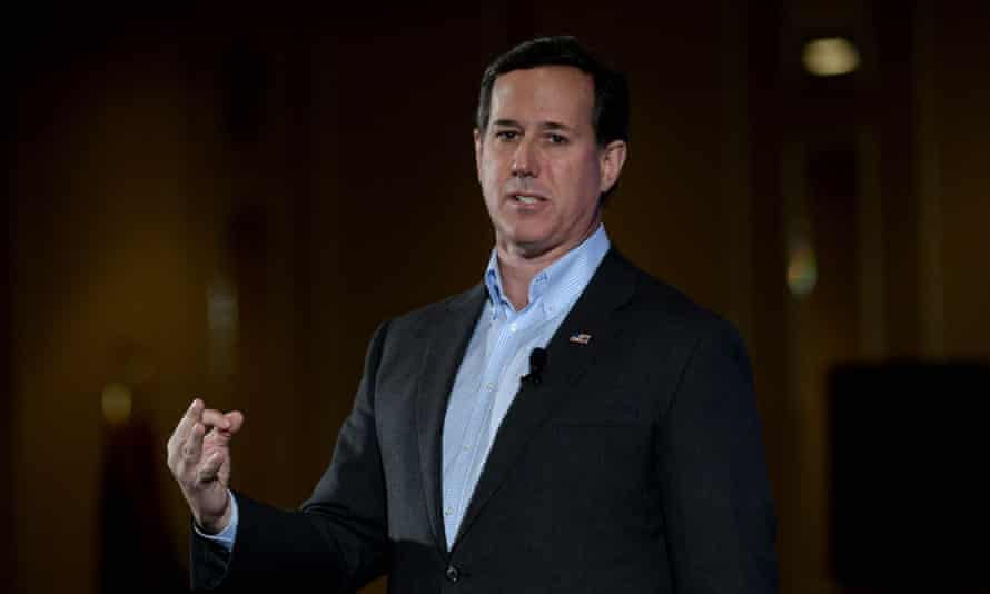 FILE: Rick Santorum Out Of Presidential Race<br>FILE - FEBRUARY 3, 2016: It was reported that former Pennsylvania Sen. Rick Santorum is dropping out of the race for president February 3, 2016. NASHUA, NH - JANUARY 23: Republican presidential candidate Rick Santorum speaks at the NHGOP First In The Nation Town Hall January 23, 2016 in Nashua, New Hampshire. The convention was a day long affair and featured presidential candidates looking to win the first in the nation primary. (Photo by Darren McCollester/Getty Images)