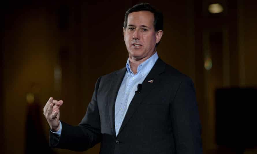Former Pennsylvania senator Rick Santorum in 2016.