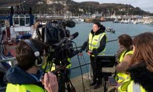 Caroline Nokes speaks to the media in Dover