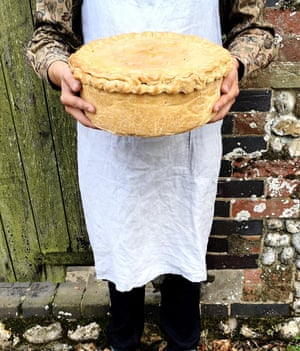 Who ate all the pie? A stupendous porky monster created by Bray's Cottage pork pies.