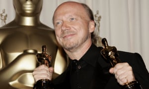 Paul Haggis winning Oscars for Crash in 2006. He called Hollywood a 'fairly sexist' town in a previous interview with the Guardian.
