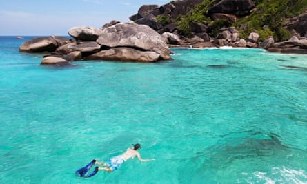 Lonely, planned it ... snorkeling in Andaman sea, Thailand.