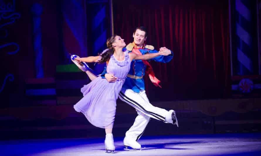Anastasia Ignatyeva and Bogdan Bererenko in The Nutcracker On Ice at the London Palladium, 2013.