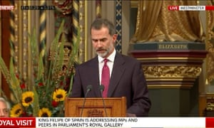 King Felipe of Spain.