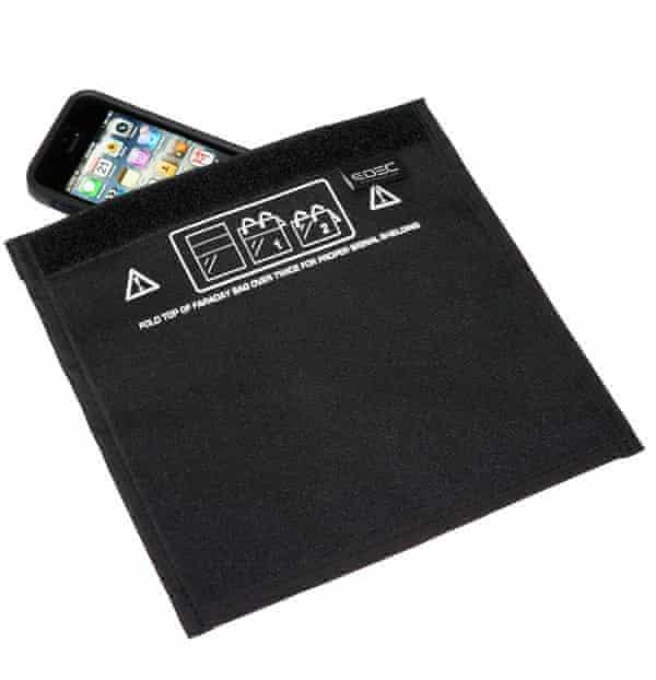 Smartphone safety ... a Faraday bag.
