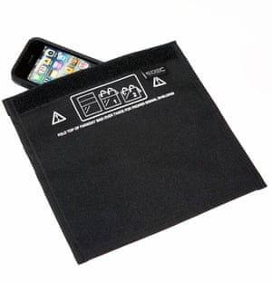 Smartphone safety ... a Faraday bag.