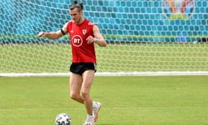Gareth Bale in training.