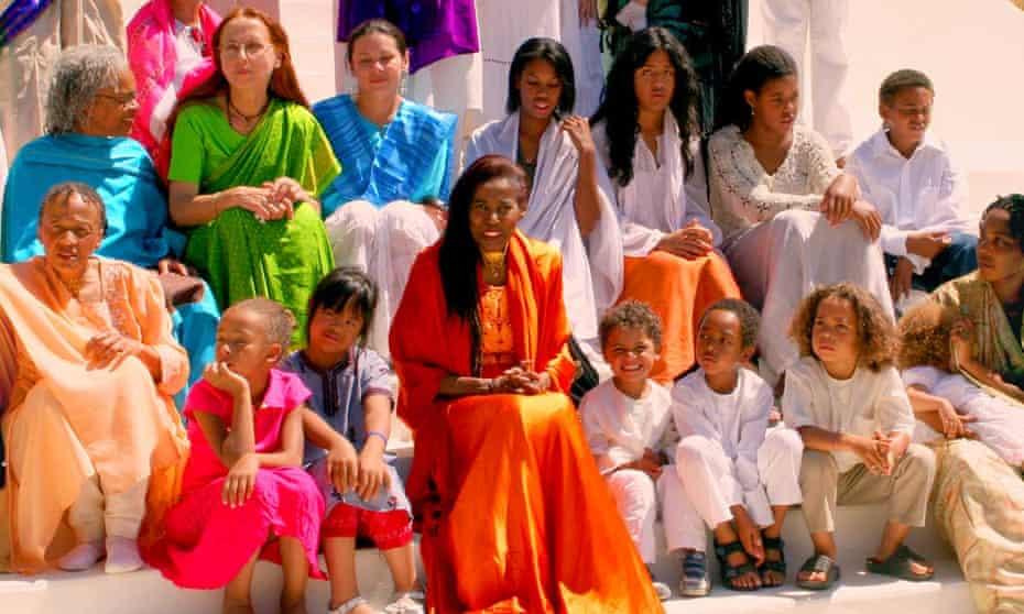Alice Coltrane at her ashram.