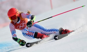 Going downhill fast, but in a good way: Mikaela Shiffrin.