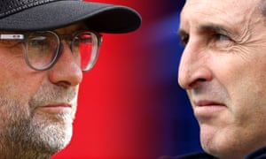 Jürgen Klopp and Unai Emery will come face-to-face on Saturday.