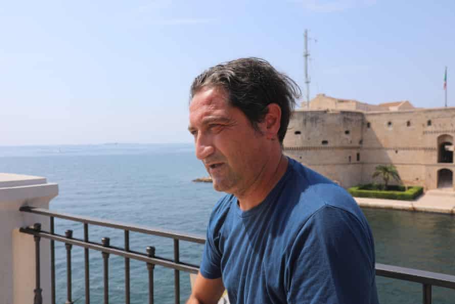 Campaigner and activist Luciano Manna in Taranto
