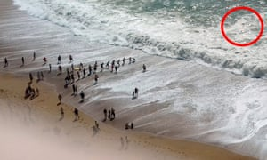 People form the human chain