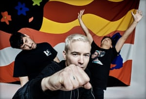 Tony Di Blasi, Robbie Chater and James Dela Cruz of the Avalanches
