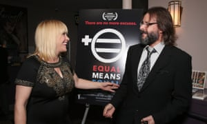 Executive Producer Patricia Arquette and Judd Nelson at a screening of Equal Means Equal.