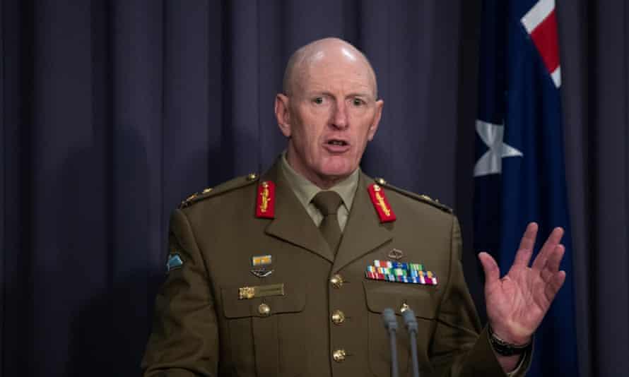 Australia's Covid taskforce commander, Lt Gen John Frewen