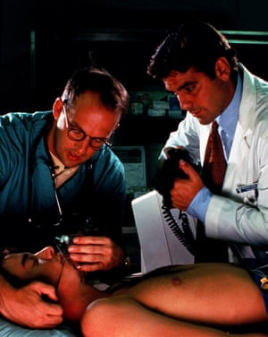 The doctor will see you now: with Anthony Edwards in ER, 1994.