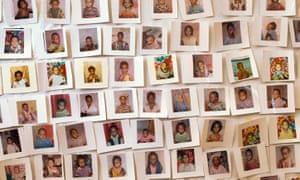 Unicef handout picture shows photographs of girls not subjected to female genital mutilation.