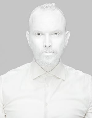 Tadao Cern in bathed in all-white in a self-portrait