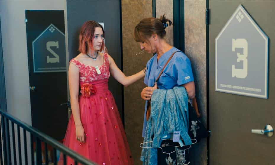 Saoirse Ronan and Laurie Metcalf in Lady Bird.