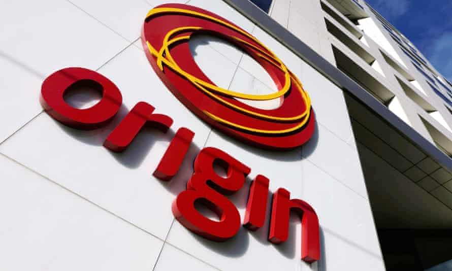 The logo of Australian energy company Origin is pictured in Melbourne, Australia