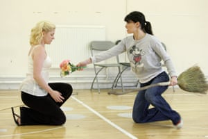 Helen Dallimore and Idina Menzel at the first day of rehearsals of Wicked which will opening at the Apollo Victoria in September 2006