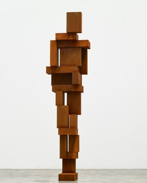 An iron figure by Gormley, similar to that envisaged in the new work.