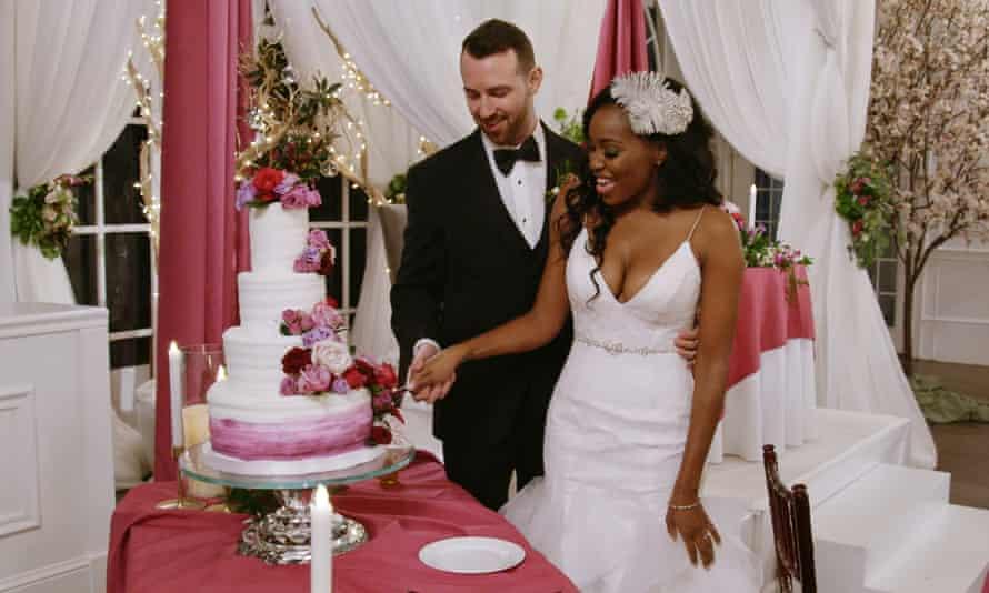 Cameron Hamilton and Lauren Speed on their wedding day.