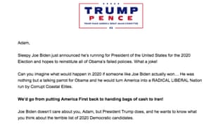 An email from Trump's campaign.