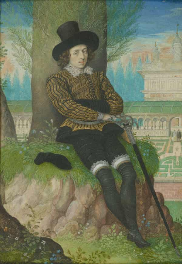 A Young Man Seated Under a Tree, c1590-95, by Isaac Oliver.