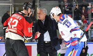 José Mourinho at a Russian ice hockey match this week.
