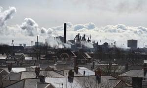 Tata Steel steel plant at Port Talbot