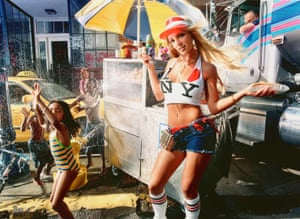 Britney Spears with Hot Dog, 2000.