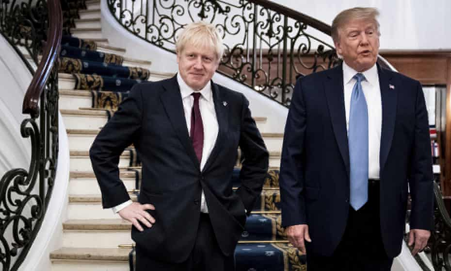 'Trump's genteel country cousin': Boris Johnson and the former US president in Biarritz, France, August 2019