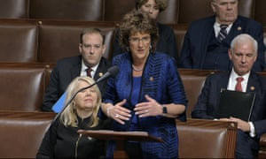Jackie Walorski speaks as the House of Representatives debates the articles of impeachment against Donald Trump at the Capitol in Washington, on 18 December 2019.