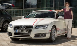 Kate Connolly and Audi's piloted car.