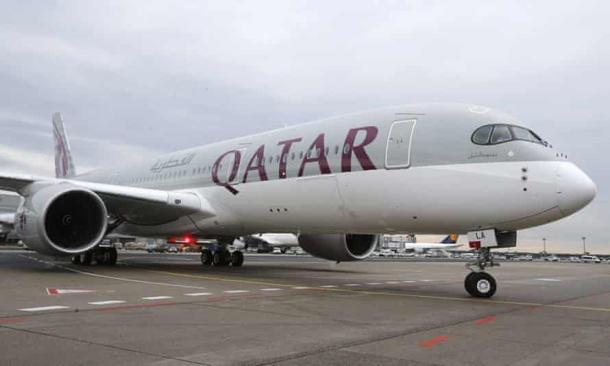 A Qatar Airways plane.