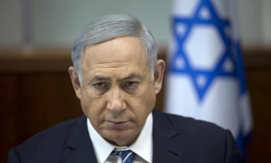 The Israeli prime minister, Binyamin Netanyahu.