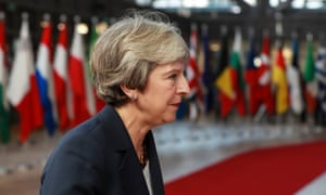 Theresa May arriving for the European council summit in Brussels