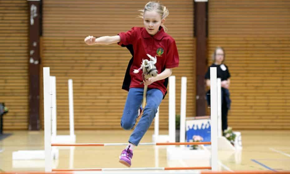 Gallop pole: hobbyhorsing championships, Vantaa, Finland, 2017.